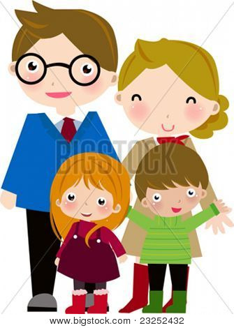 Family with two children
