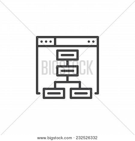 Sitemap Outline Icon Vector Photo Free Trial Bigstock