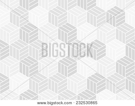 Abstract Geometric Pattern . A Seamless Vector Background. White And Gray Texture