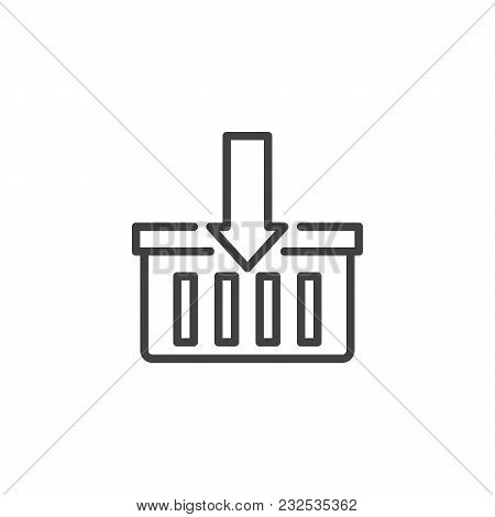 Add To Cart Outline Icon. Linear Style Sign For Mobile Concept And Web Design. Add To Shopping Baske