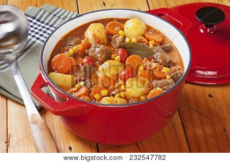 An Interesting French Stew Known As Boeuf Daniell, This Has Beef, Carrots And Potatoes, Tomatoes And