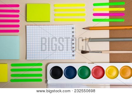 Stationery With A Notebook.