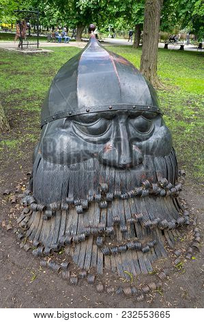 Donetsk, Ukraine - May 09, 2017: Forged Sculpture In The Park Of Forged Sculptures In Park