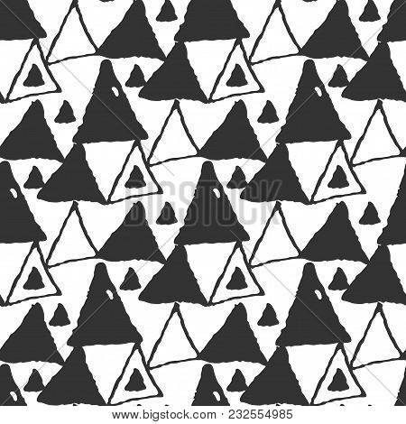 Abstract Doodle Seamless Pattern. Hand Drawn Elements
