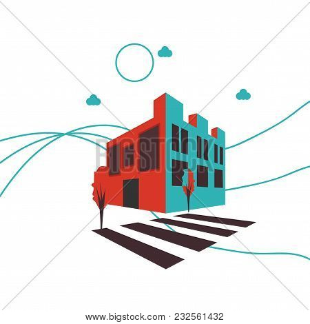 Isometric Virtual Reality Imitation Vector Illustration: 3d First Person Game Style Shop, Hotel Or R