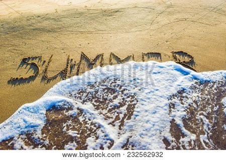 The Inscription Summer On Sand.