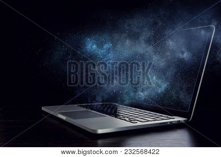 Opened notebook device