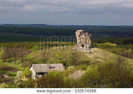 Devil's Rock In Pidkamin, Lviv Region, West Ukraine (summer Landscape)