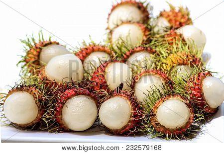 Best Tropical Fruit Rambutans In Phuket Thailand