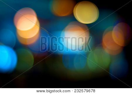 Colourful Booked Of Night Street Scene With Dark Background