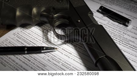 Fbi Nics Application For A Gun Purchase With Dishonorable Discharge Line Obvious