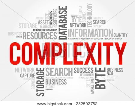 Complexity Word Cloud Collage, Business Concept Background