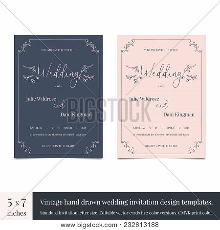 Hand drawn doodle wedding vector photo bigstock hand drawn doodle wedding invitations design template hand drawn invitations wedding card design wi stopboris Gallery