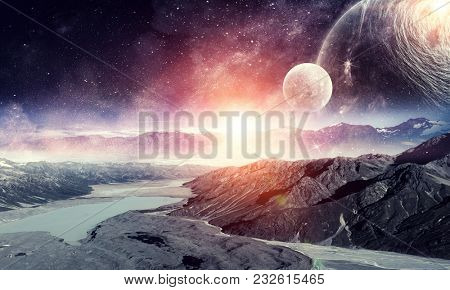 Space planets and nature