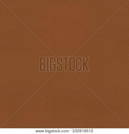 Soft Brown Leather  Closeup Background. Seamless Square Texture, Tile Ready. High Resolution Photo.