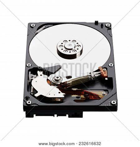 Hard Disk Drive Hdd Isolated On White Background. High Resolution Photo.