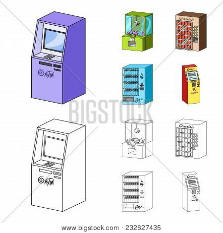 A Game Machine, A Ticket Sales Terminal, An Automaton For Selling Aqua And Chocolate. Terminals Set