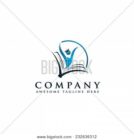 Creative Open Book Logo Vector, Book Color Logo, School Books, Education Books