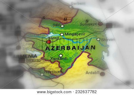 Azerbaijan, Officially The Republic Of Azerbaijan (black And White Selective Focus).