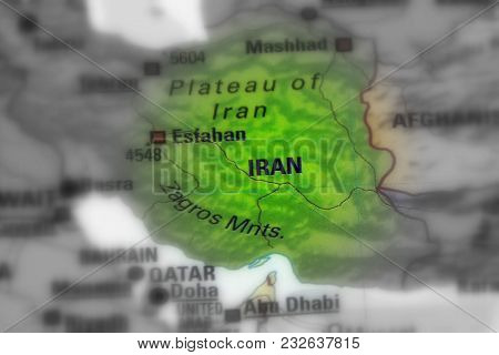 Iran, Also Known As Persia, Officially The Islamic Republic Of Iran (black And White Selective Focus