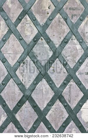 Aged Iron Texture Tiles.    Metal Texture Pattern Used As Abstract Background