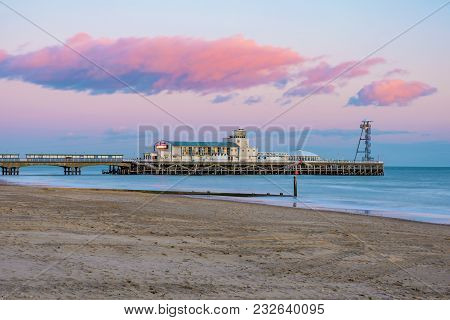 Bournemouth, United Kingdom - February 09: View Of Bournemouth Pier, A Famous Pier And Attraction On