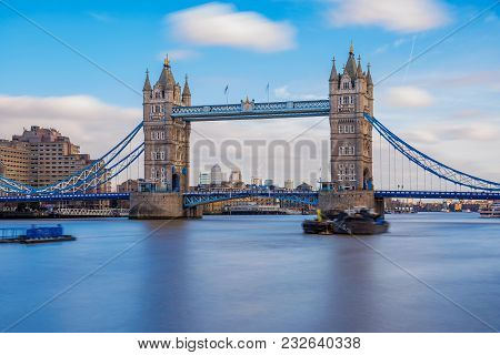 Tower Bridge And River Thames In London