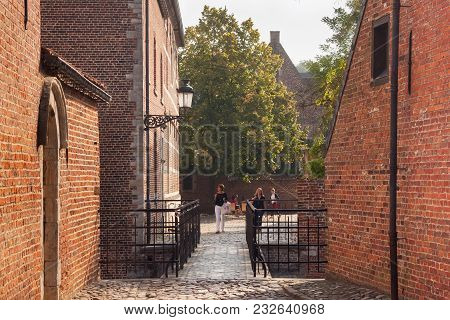 Leuven, Belgium - September 05, 2014: Old Historic Buildings In Groot Begijnhof Of Leuven. Is A Well