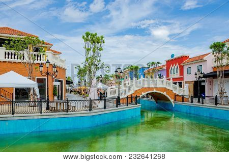 Hua Hin, Thailand - August 22: This Is Venezia Village A Shopping Village And Tourist Attraction Whi