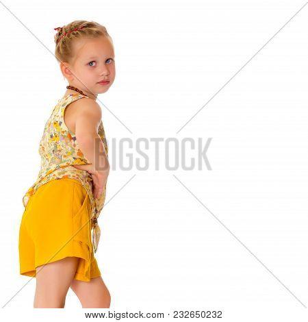 Fashionable Little Girl.
