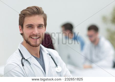 closeup.portrait of a handsome doctor