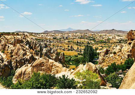 Sunny Mountains In Capadocia Turkey Vintage Look