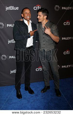 LOS ANGELES - MAR 22:  Hill Harper, Nicholas Gonzalez at the 2018 PaleyFest Los Angeles -