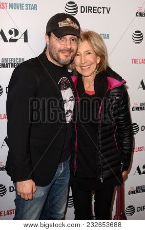 LOS ANGELES - FEB 22:  Adam Rifkin, Lin Shaye at the