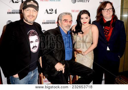 LOS ANGELES - FEB 22:  Adam Rifkin, Burt Reynolds, Ariel Winter, Clark Duke at the