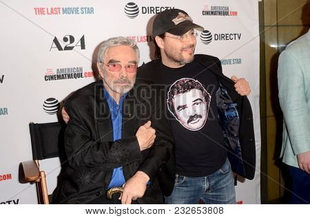 LOS ANGELES - FEB 22:  Burt Reynolds, Adam Rifkin at the