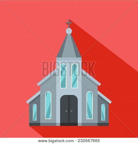 Western Church Icon. Flat Illustration Of Western Church Vector Icon For Web