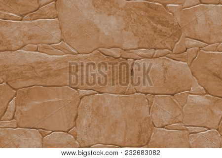 Tile Imitation Of Natural Stone - Texture (background). Toning In Pantone Color Butterum.