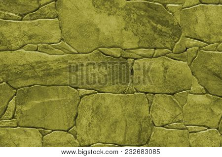 Tile Imitation Of Natural Stone - Texture (background). Toning In Pantone Color Golden Lime.