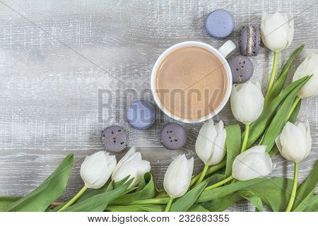 Beautiful Romantic Background With Copy Space. Wedding, Birthday, Easter, Mother Day, Valentine Day