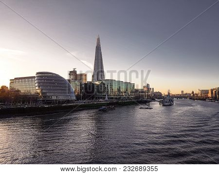 December 28th, 2017, London, England - The Shard, Also Referred To As The Shard Of Glass, Shard Lond