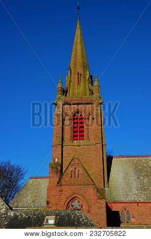 A Church With Spire In The Village Of Invergowrie