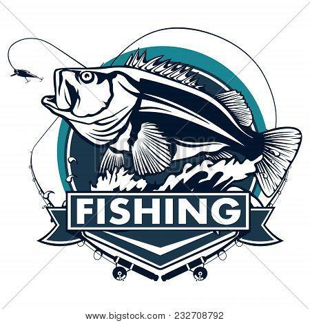 Fishing Logo Bass Vector Photo Free Trial Bigstock