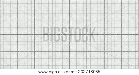 Gray Seamless Millimeter Paper Background. Tiling Graph Grid Texture. Empty Lined Pattern.