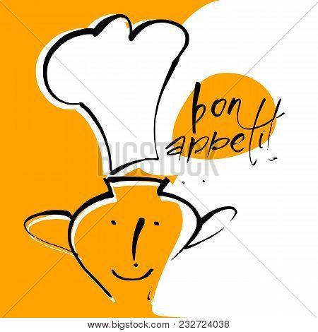 Bon Appetit. Restaurant Menu Template. Vector Illustration.