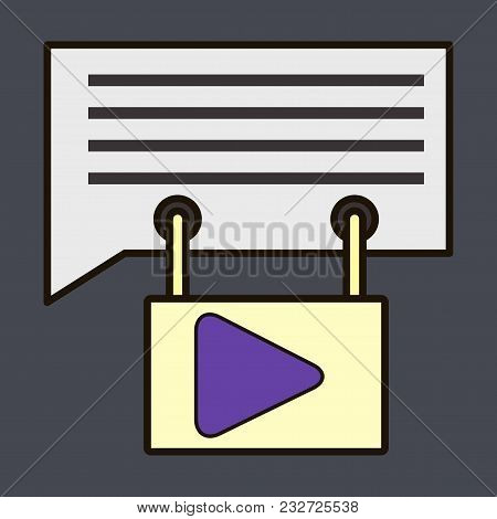 Flat media social vector photo free trial bigstock flat media and social network concept with mobile messenger chat user group invitation conference stopboris Images