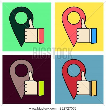 Set Of Like Vector Icon. Web Pointer In Eps 10 For Webdesign And Smartphone Applications.