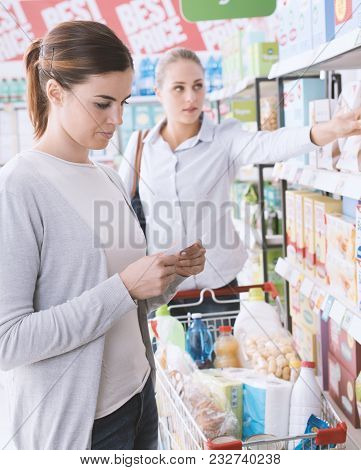 Woman Doing Grocery Shopping