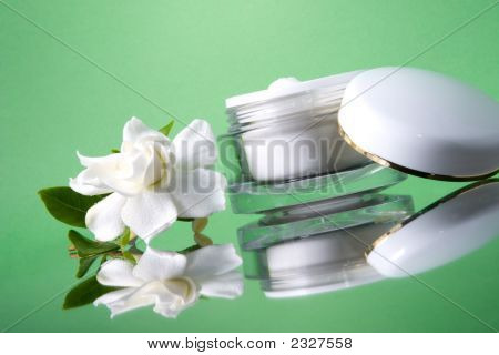 Face Cream And Gardenias