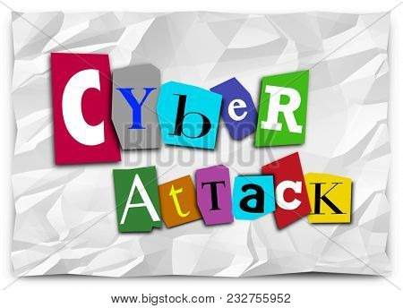 Cyber Attack Ransom Note Online Digital Threat Hack 3d Illustration